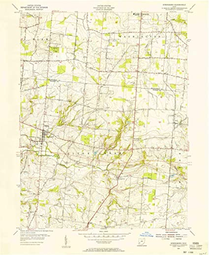 Springboro Ohio Map.Amazon Com Yellowmaps Springboro Oh Topo Map 1 24000 Scale 7 5 X