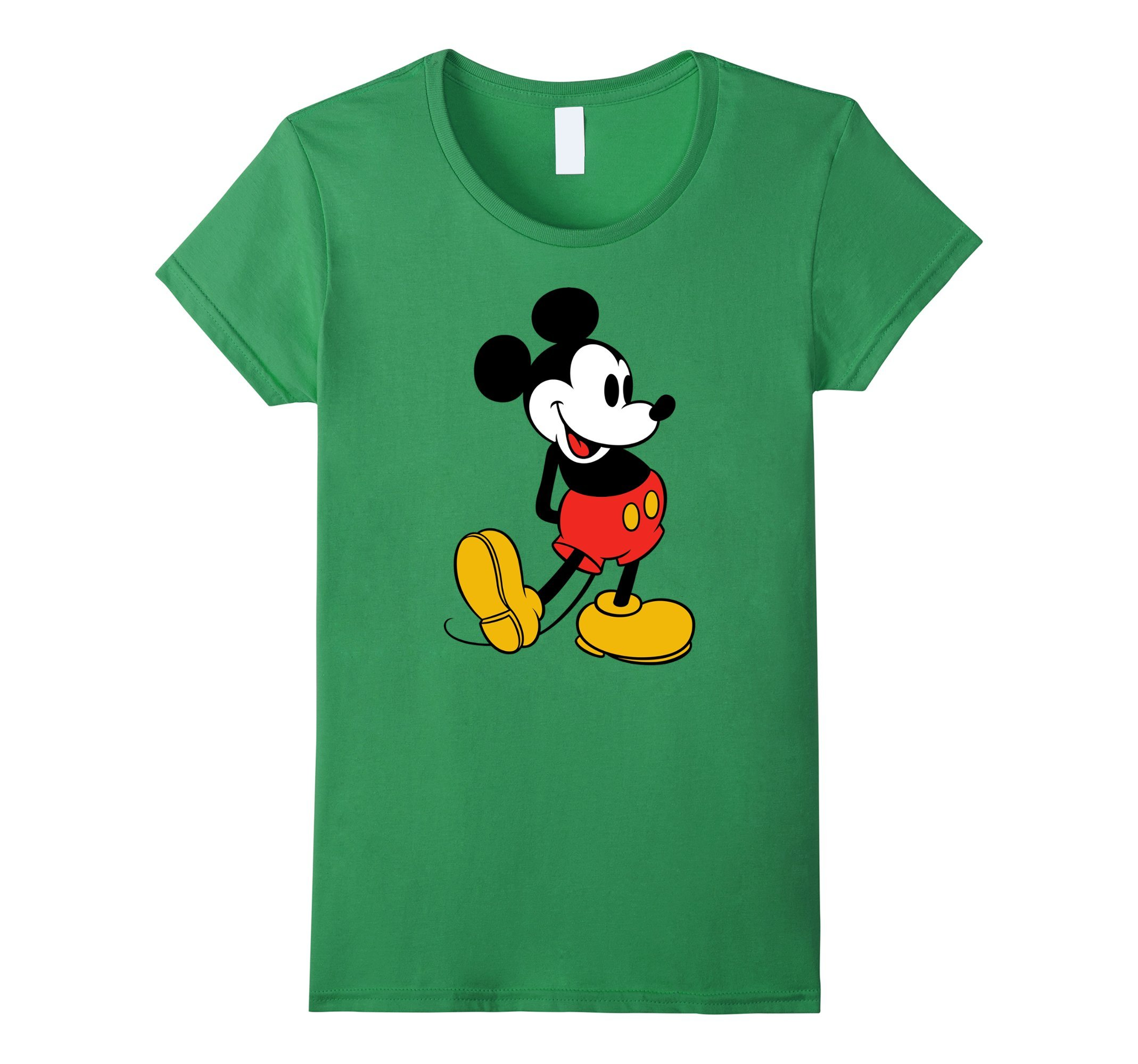 Womens Disney Classic Mickey Mouse T-Shirt Small Grass