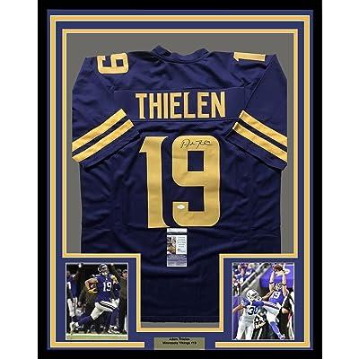 Framed AutographedSigned Adam Thielen 33x42 Minnesota Vikings Color