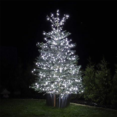 Catena serie luci a led Bianco Ghiaccio per albero di Natale giochi per esterno