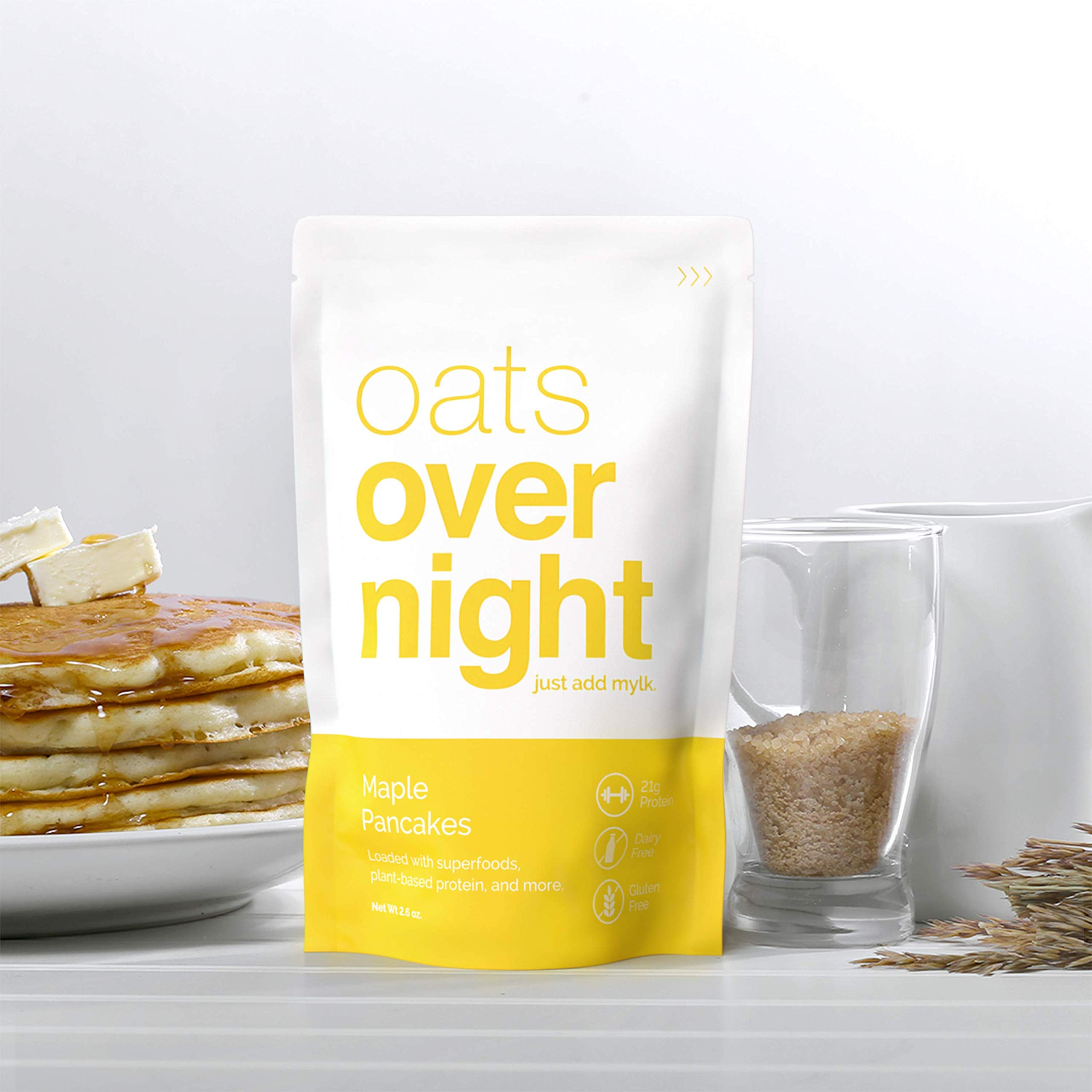 Oats Overnight 24 Pack Plant Based with BlenderBottle - Premium High-Protein, Low-Sugar, Gluten-Free (2.6oz per pack) by Oats Overnight (Image #3)