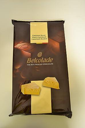 Belcolade 27,5% Bloque de Chocolate Blanco - Sin Azúcar Añadido (paquete)