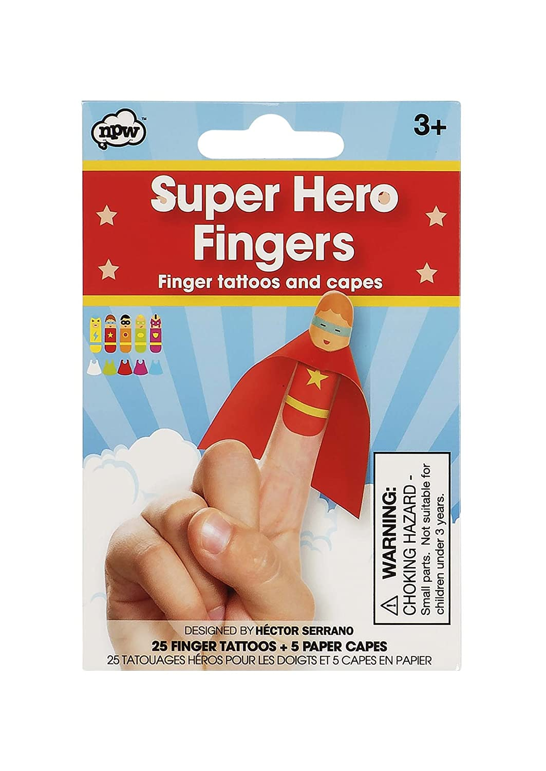 NPW Kid 's Finger Puppets Kit – Super Hero Finger Set NP32017
