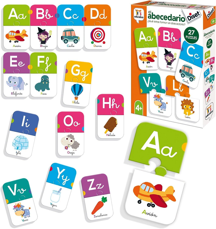 Diset- Juguete educativos El Abecedario, Multicolor (68963) , color/modelo surtido