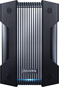 ADATA HD830 4TB Ruggedized IP68 Extra Strength USB3.1 Waterproof Dustproof Drop-Proof External Hard Drive Black (AHD830-4TU31-CBK)