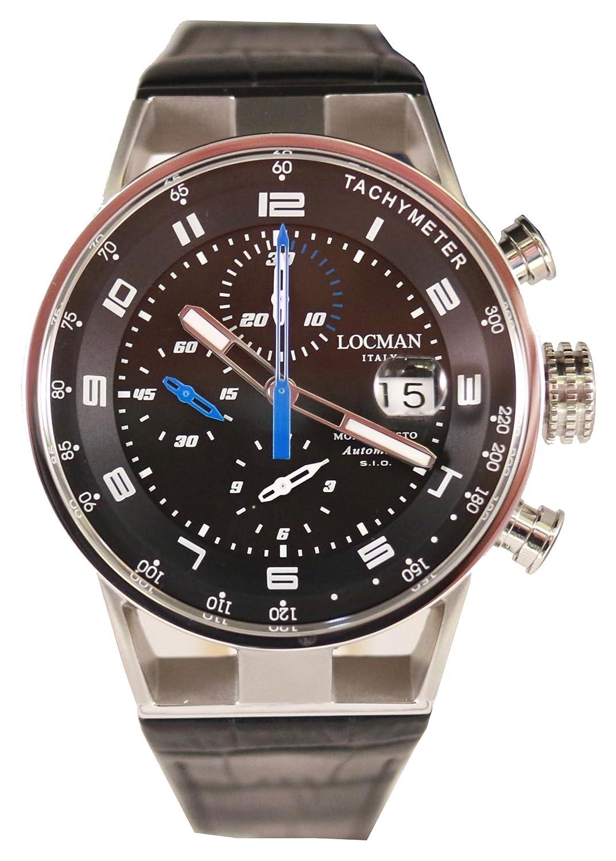 [ロックマン]LOCMAN 腕時計 MONTECRISTO Chronograph Automatic 0516A01S-00BKBLPK メンズ 【正規輸入品】 B077D1FKWH