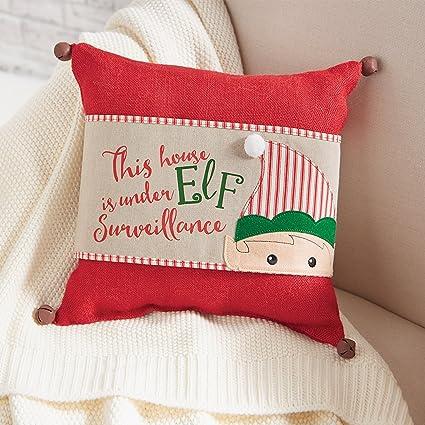 mud pie sleigh mates christmas home decor elf pillow wrap - Mud Pie Christmas Home Decor
