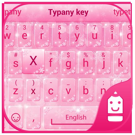Pink Snow Theme&Emoji Keyboard