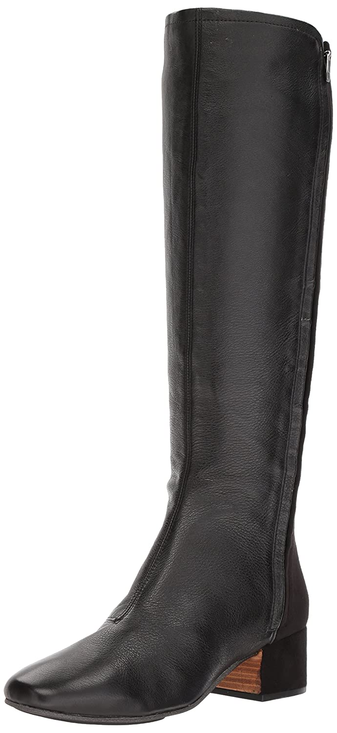 Gentle Souls Women's Ella-SETI Stretch Zippers Knee High Boot B071VMZ99H 6 B(M) US|Black Leather