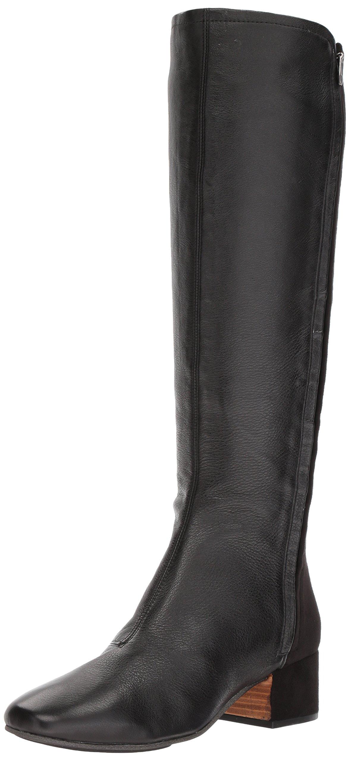 Gentle Souls Women's Ella-Seti Stretch Zippers Knee High Boot, Black Leather, 10 Medium US