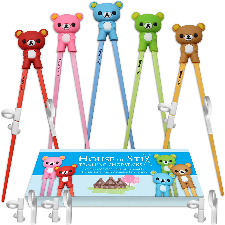 Kids Chopsticks Children Cute Cartoon Learning Training Education Chopstick T