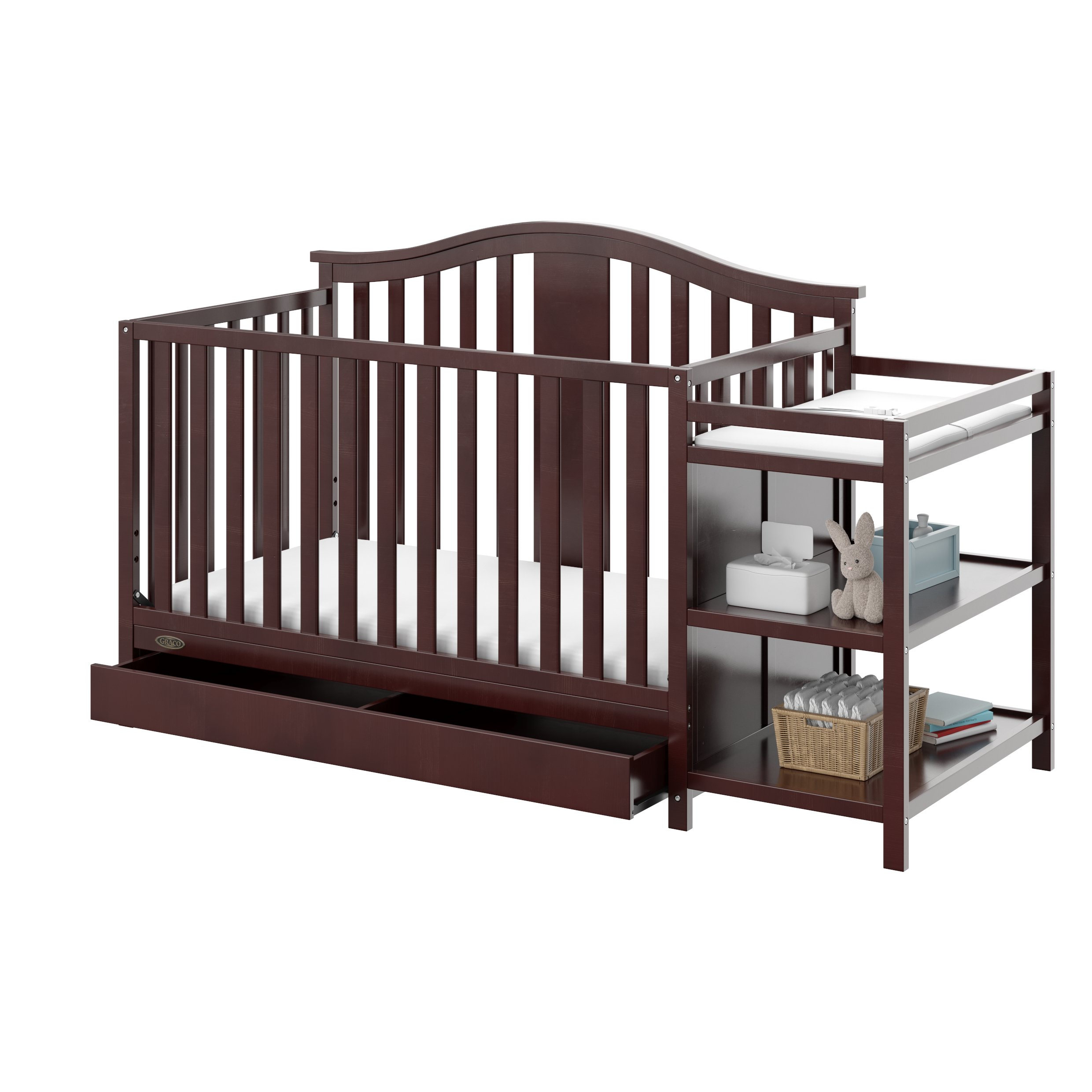 usa convertible of changing katia with table attached changer crib fresh davinci cribs and bo made in luxury model white winter piedmont