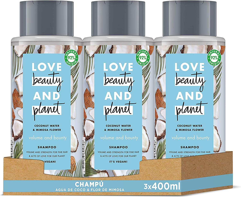 Love Beauty and Planet - Champú Agua de Coco & Flor de Mimosa ...