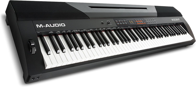 M-Audio Accent - Piano digital de 88 teclas contrapesada (altavoces incorporados y pack de software)