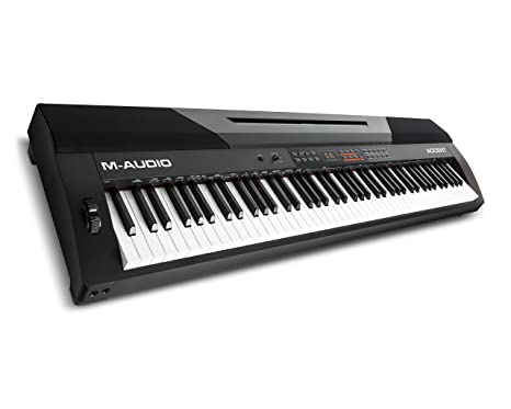 M-Audio Accent - Piano digital de 88 teclas contrapesada (altavoces incorporados y pack