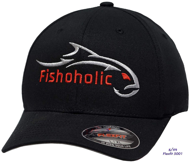 【70%OFF】 fishoholic ( ) R ) Flexfitブラック野球釣り帽子W S/ 'シルバー&ピンク刺繍フロント&ピンクon Back。無料ステッカーincl. USPTO登録商標です。( Blackhat。SilverPink。, S/ M ) B076ZB57JS, Blender:85c8e07d --- specialcharacter.co
