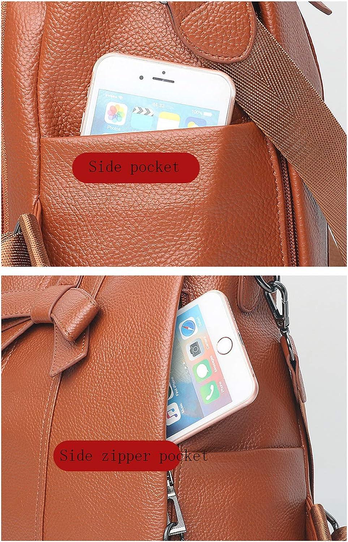 Huabor Womens Backpack Purse PU Leather Zipper Bags Fashion Casual Rucksack Satchel and handbag