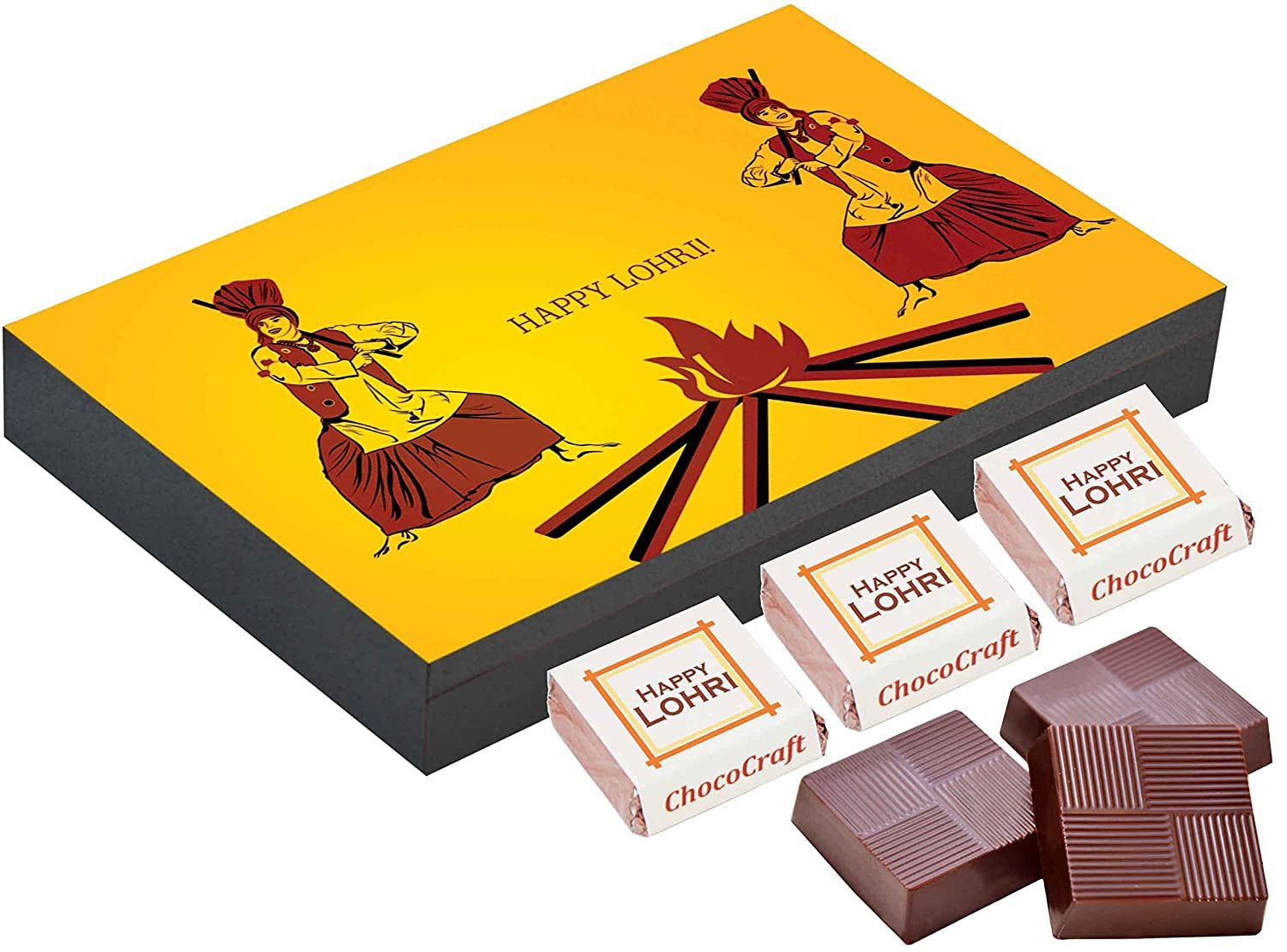 Chococraft Lohri Gifts Ideas 6 Chocolate Gift Box Unique Gift For Lohri Amazon In Grocery Gourmet Foods