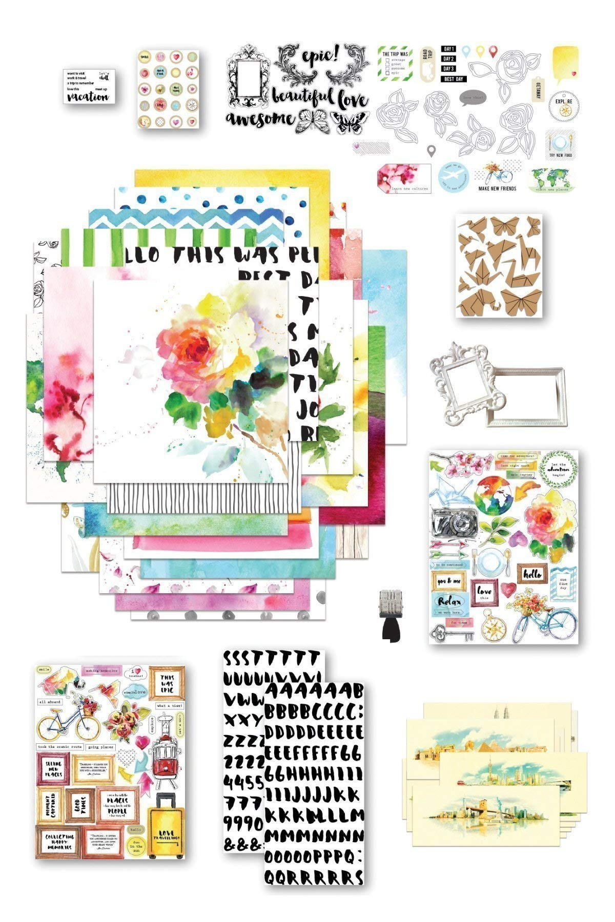 Altenew Reflection Scrapbook Collection - Complete Scrapbooking Kit Perfect For Starters and Seasoned Crafters