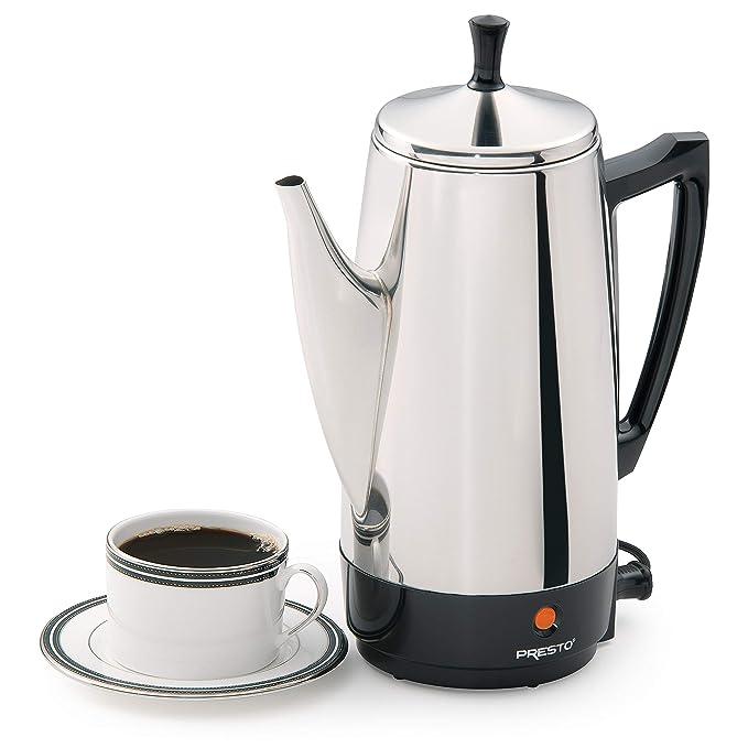 Amazon.com: Presto - Cafetera eléctrica de acero inoxidable ...