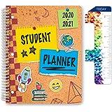 "Dated Elementary Student Planner for Academic Year 2020-2021 (Matrix Style - 8.5""x11"" - Corkboard Cover) - Bonus Ruler…"