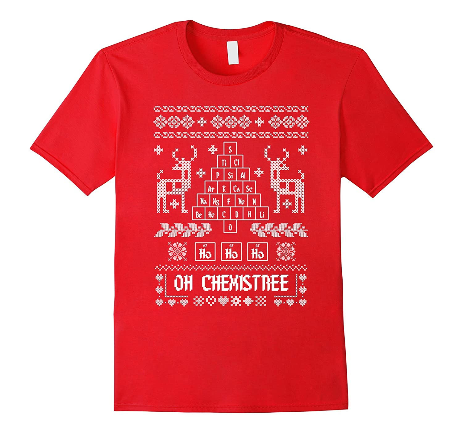 Christmas Chemistry Oh Chemistree Ugly Sweater T Shirt-ANZ