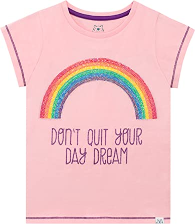 Harry Bear Camiseta de Manga Corta para niñas Arcoíris: Amazon.es ...