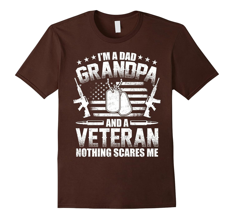 I'm A Dad Grandpa T-Shirt Veteran Father's Day-Yolotee