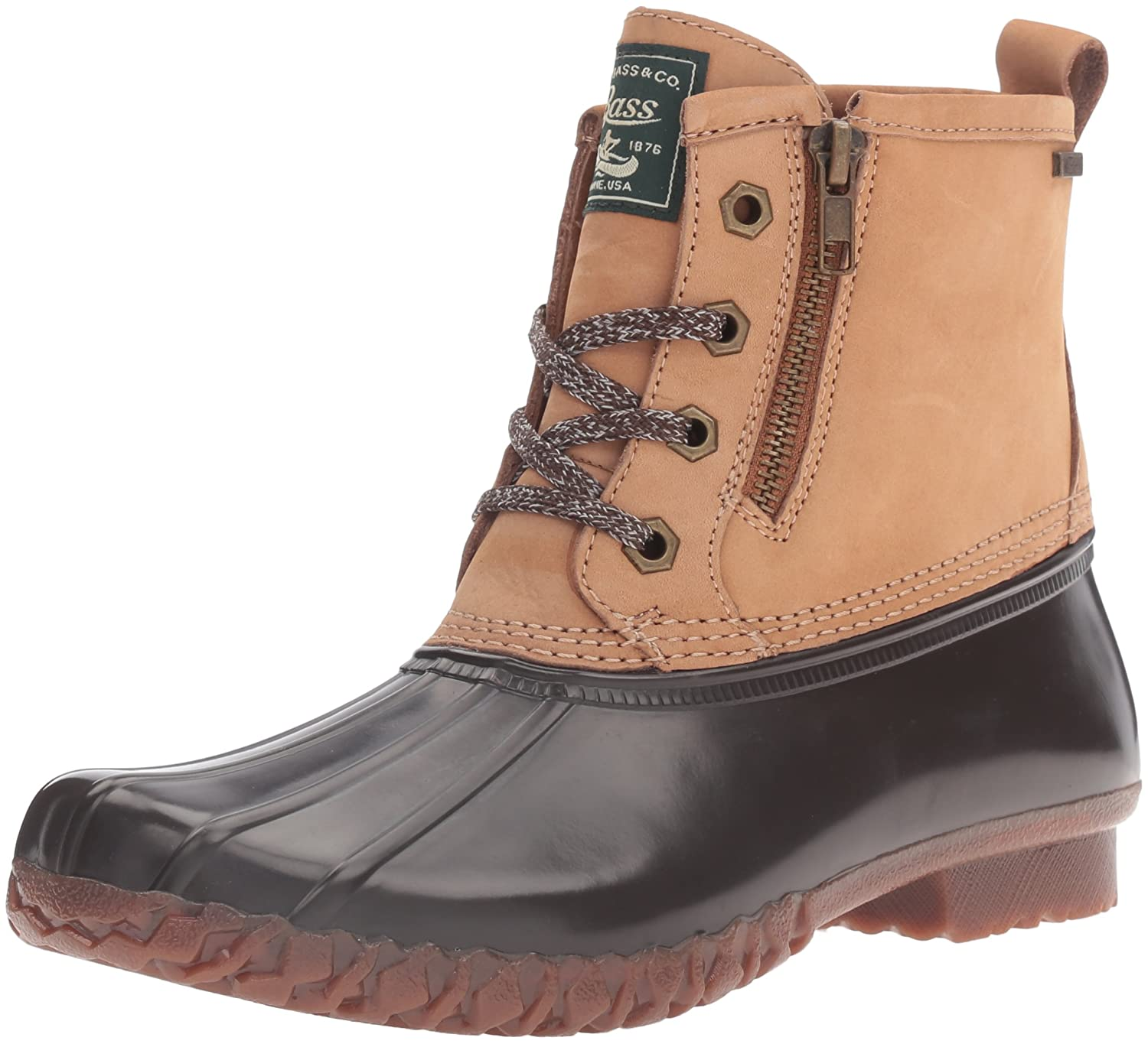 G.H. Bass & Co. Women's Danielle Rain Boot B01D0RR9GM 6 B(M) US|Tan/Chocolate