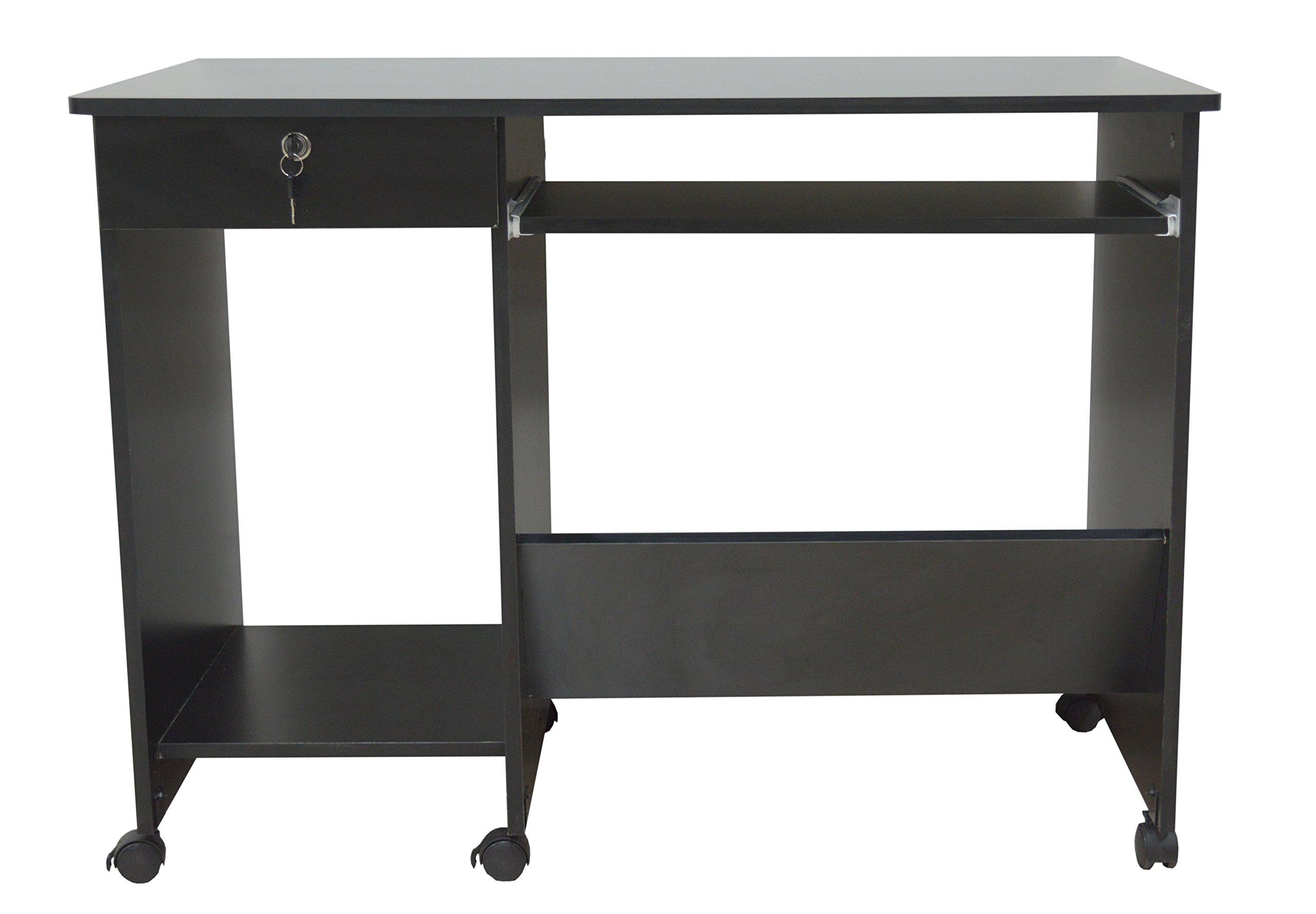 Sinai Furniture 740400350061 2 2 Sinai Computer Desk, Black