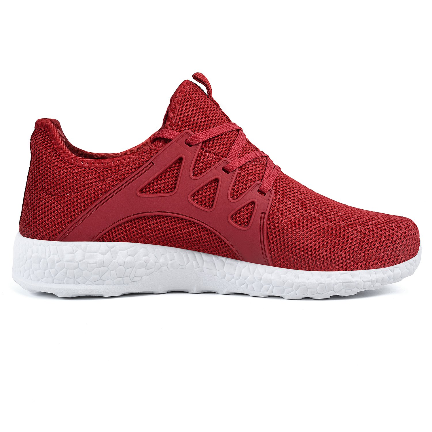 Feetmat Womens Sneakers Ultra Lightweight Breathable Mesh Walking Gym Tennis Athletic Running Shoes B07C6N3QBY 8 M US|Red/White