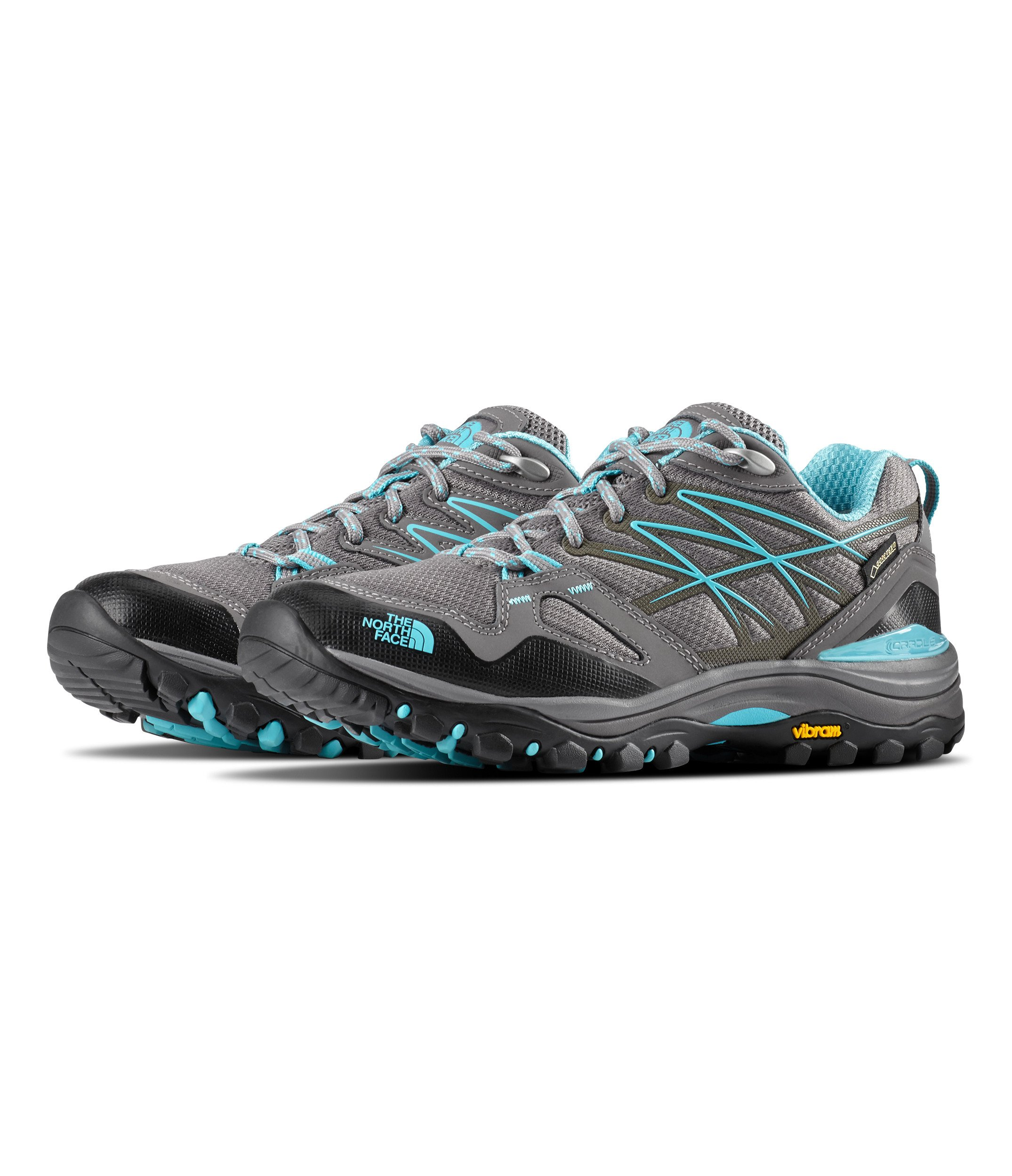 The North Face Hedgehog Fastpack GTX Hiking Shoe - Women's Dark Gull Grey/Fortuna Blue 11