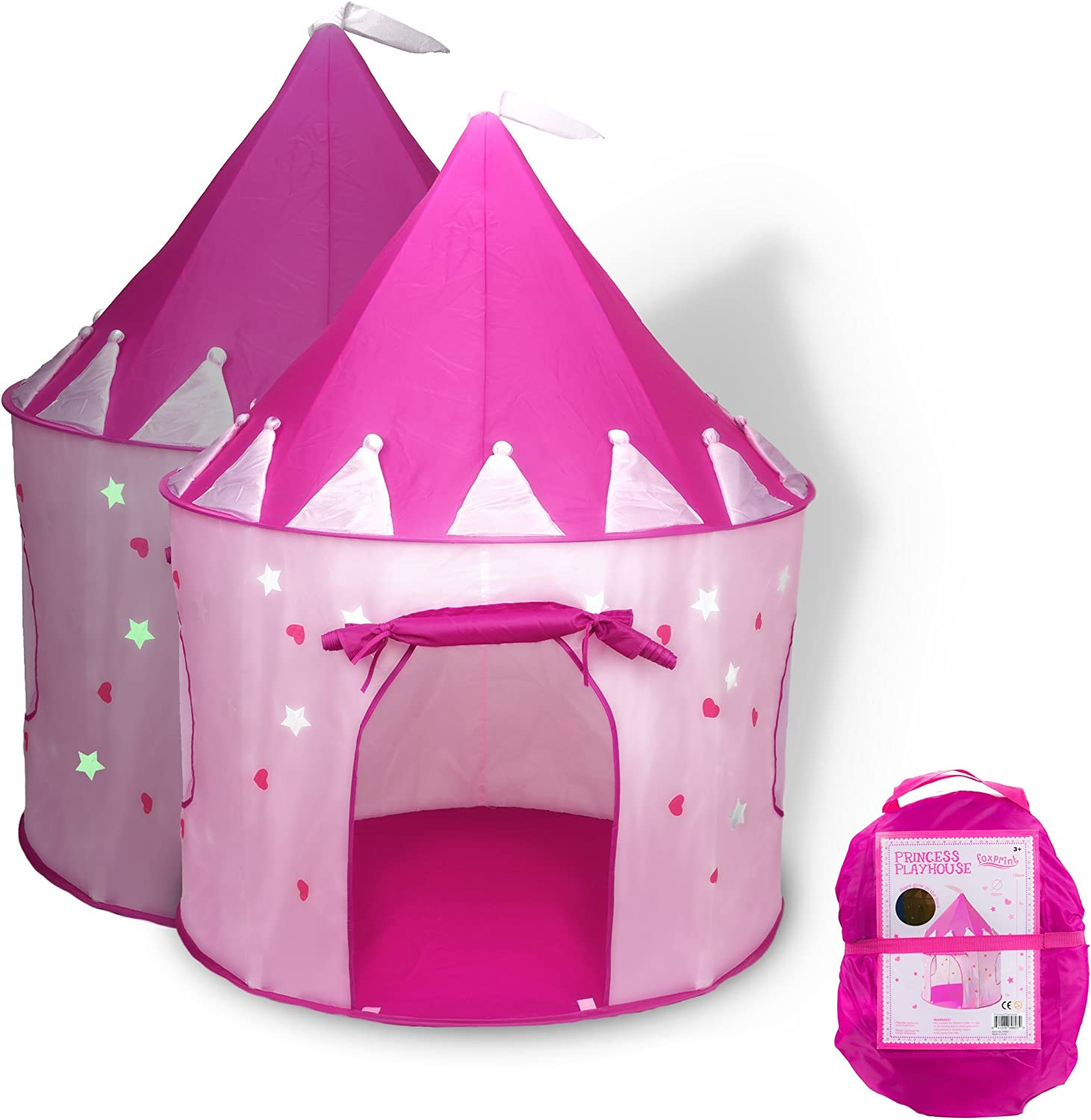 Princess Castle with Glowing Stars