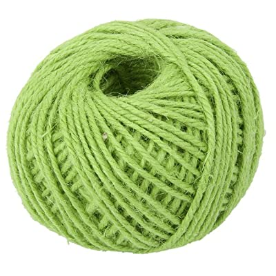 Qingsun 50m Natural Durable Jute Twine ball Hemp Rope for Arts Crafts Christmas Weeding Gift Industrial, Cake Packing, Gardening, Home Decor-Light Green : Industrial & Scientific