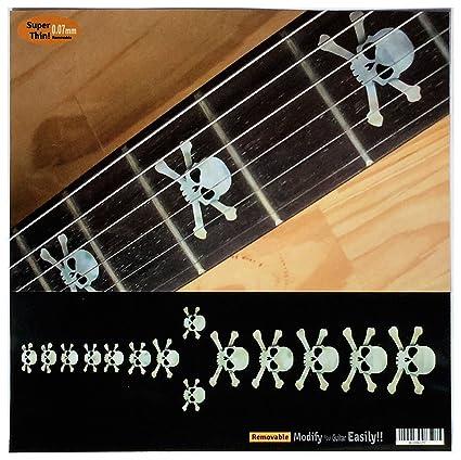 Diapasón marcadores Inlay adhesivo adhesivos para guitarra & Bass – calavera – WP