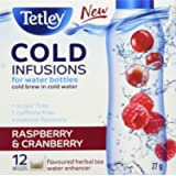 Tetley Cold Infusions Raspberry and Cranberry |Herbal Cold Water Infuser |Delicious, Natural, Sugar Free and Caffeine…