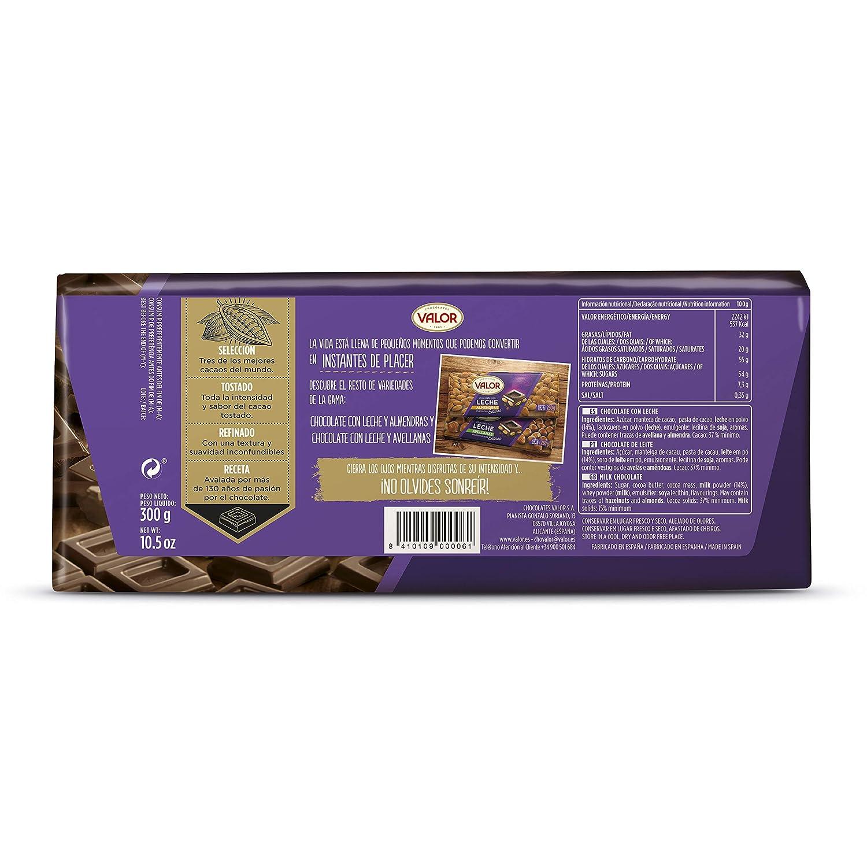 Valor - Chocolate con leche, 1 x 300 g: Amazon.es: Alimentación y bebidas