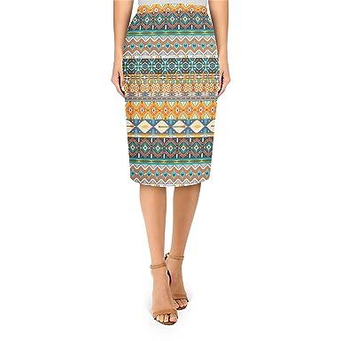 c4147fcc3a Amazon.com: Hipster Aztec Tribal Geometric Midi Pencil Skirt: Clothing