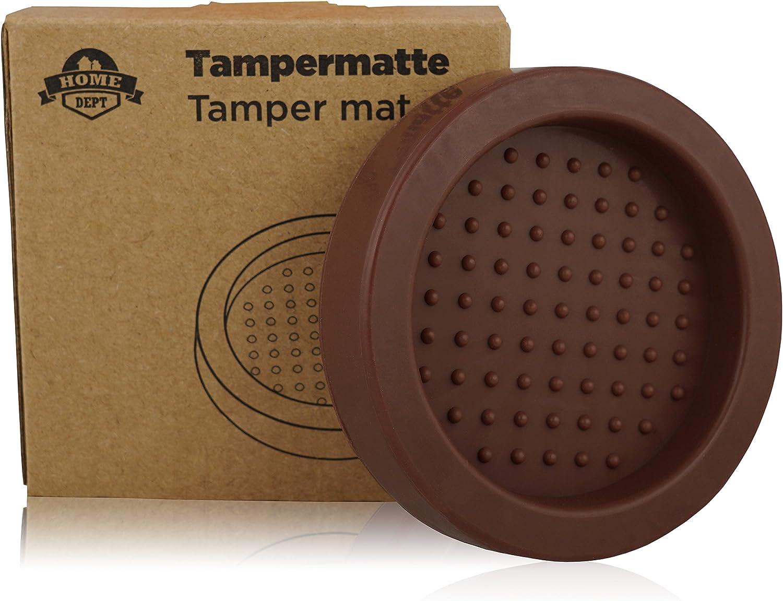 Accesorio ideal para baristas Tamping mat. Base silicona para prensador de caf/é y apoyo para el porta filtro Perfecto para moler caf/é expreso con el filtro