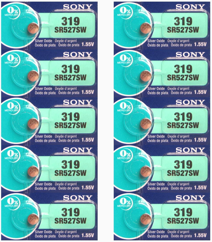 Sony 319 Sr527sw Silberoxid Uhrenbatterien Elektronik