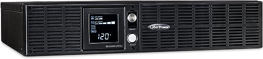 CyberPower OR2200PFCRT2U PFC Sinewave UPS System, 2000VA/1540W, 8 Outlets, AVR, 2U Rack/Tower, Black