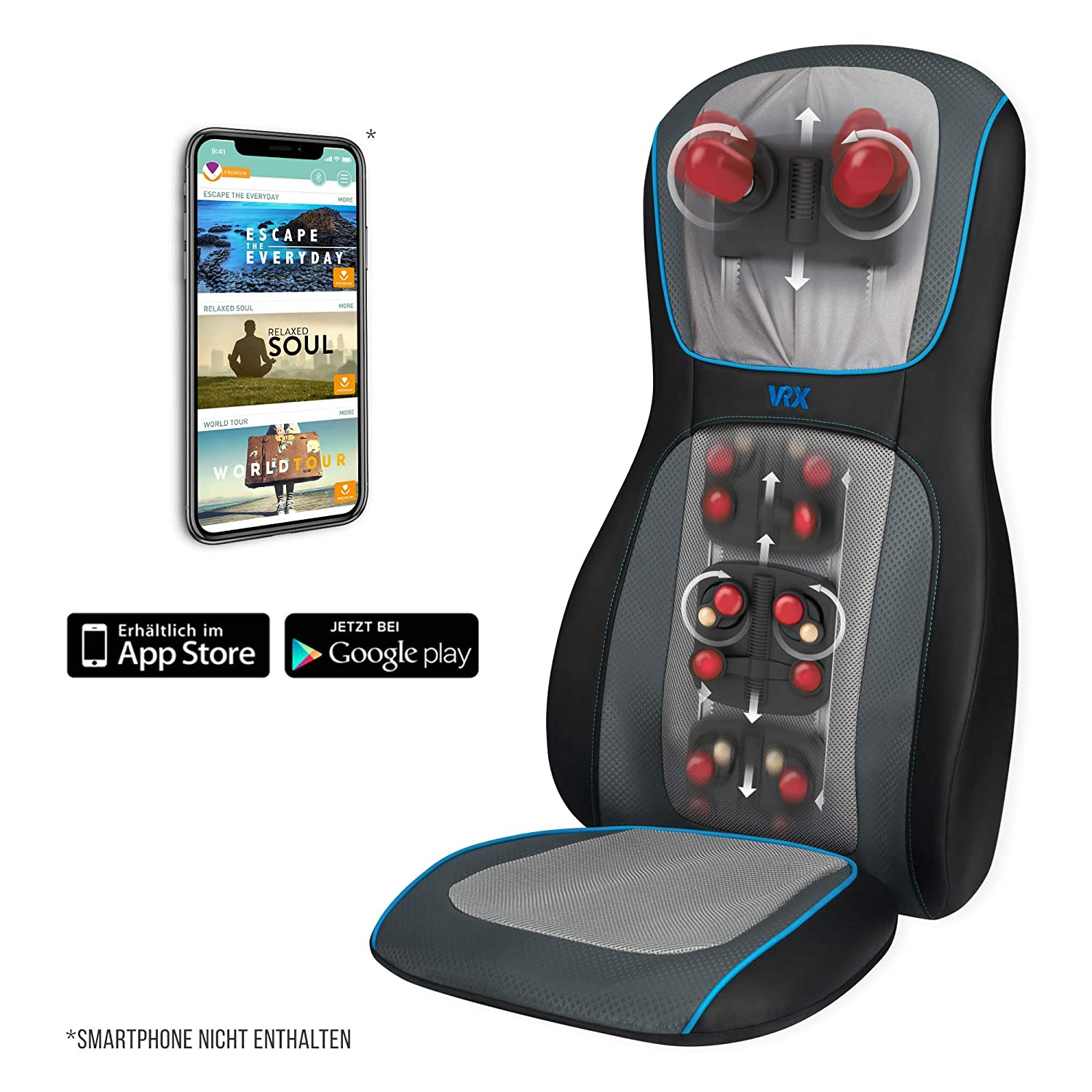 HoMedics Massagematte - HoMedics MCS-1000HVR-EU Massagesitzauflage - Massageauflage mit Virtual Reality App