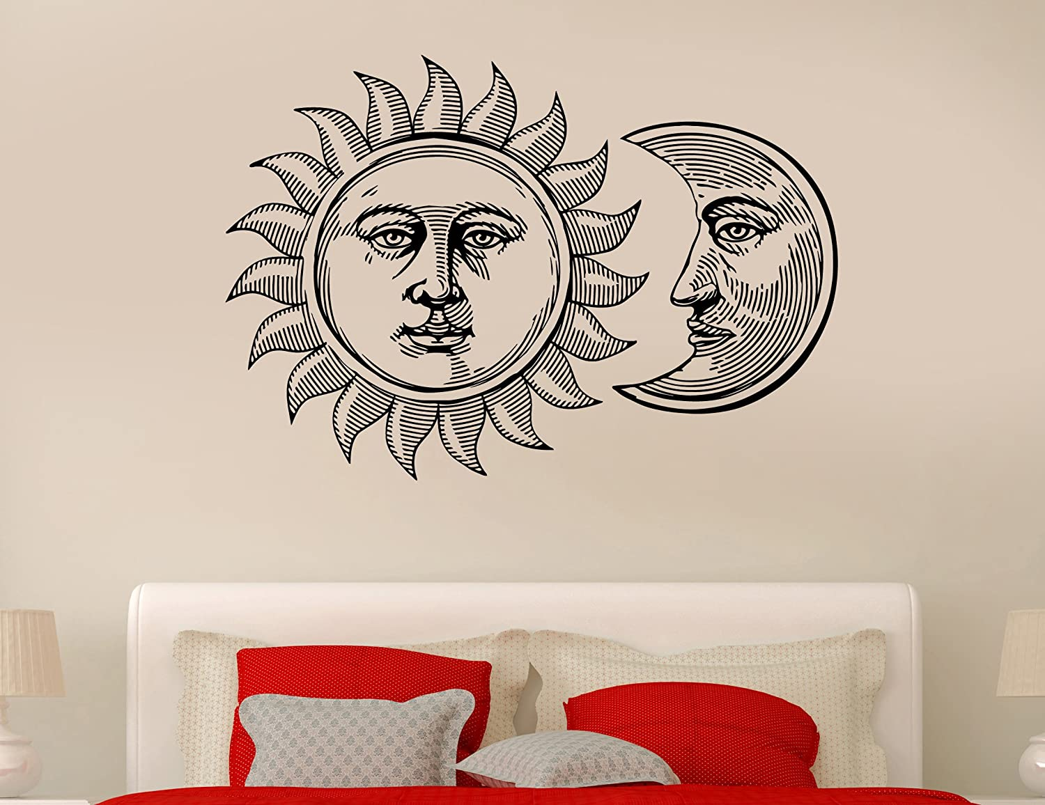 Wall Stickers Vinyl Decal Sun And Moon Gothic Middle Ages Cool Decor Wallpaper Sticker 42 For Living Room Z2310i Kitchen Home