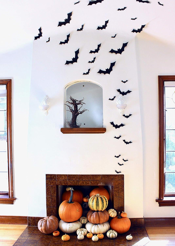 30 Pieces Black Paper Bat Halloween Card Stock Cut-outs