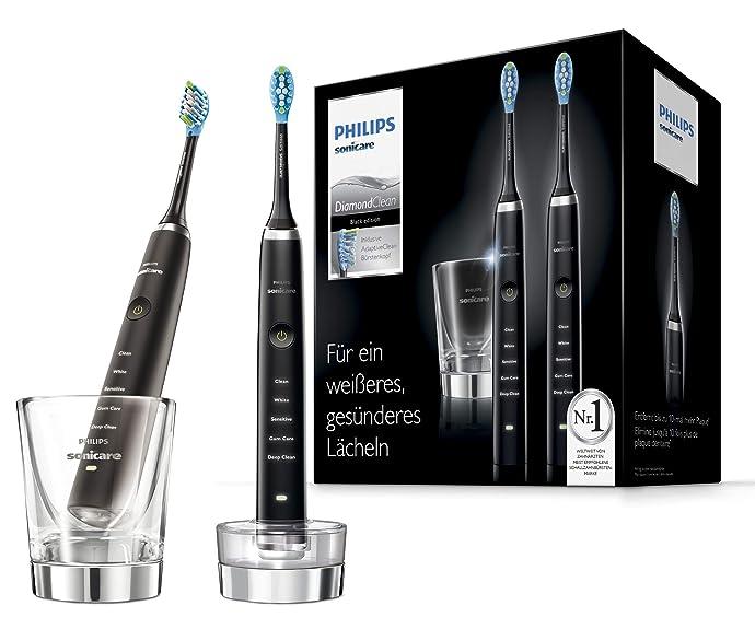 Philips 飞利浦 HX9357 旗舰级 钻石系列充电式声波震动牙刷 电动牙刷*2支装 带充电玻璃杯 ¥1312