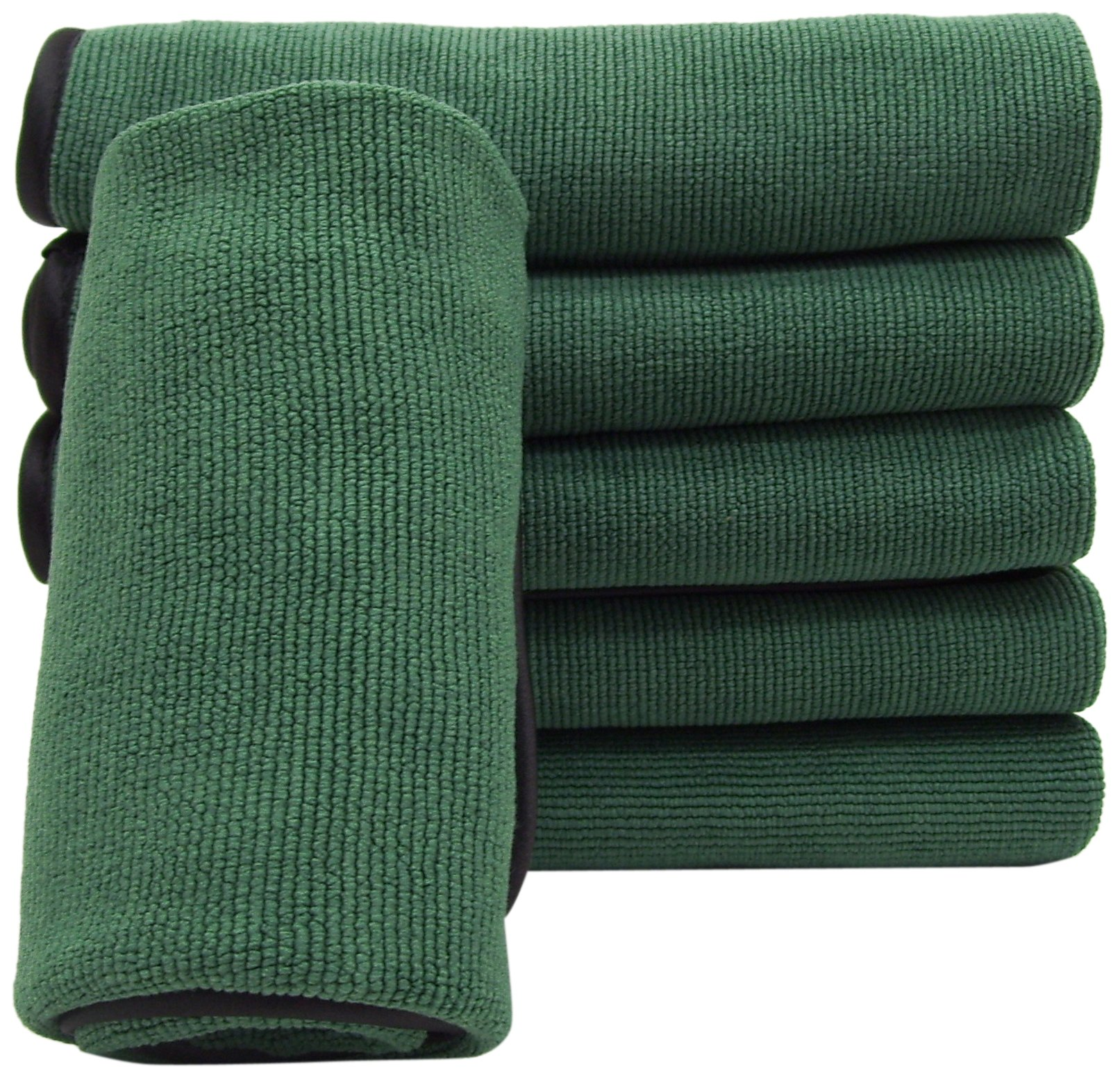 DeRoyal MF201G-12A Microfiber Pearl Weave Cleaning Cloth Microfiber Cleaning Cloth, 16''X16'', Green