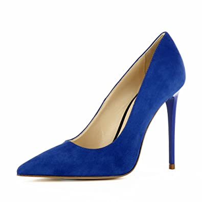 Evita Shoes Alina Escarpins Femme Semi-Ouverts Daim Rouge 35 Chaussures Nike Air Max blanc cassé Fashion homme  42 EU XFBBxcy