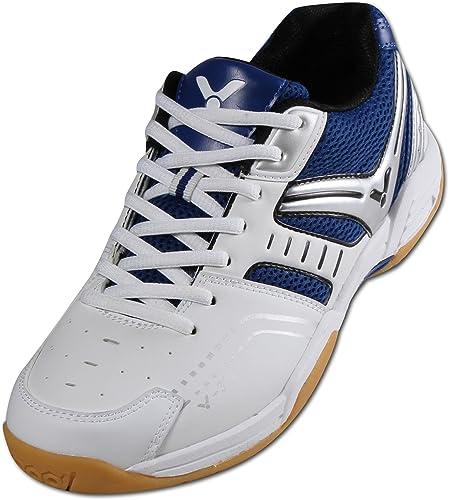 ASHION Damen Hallensportschuhe/Badminton-Schuhe Herren Squashschuhe Herren Badminton Schuhe Kinder Leicht Sportschuhe Turnschuhe (36 EU, Weiß)