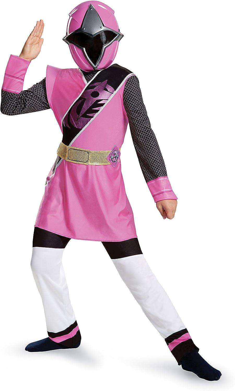 Power Rangers Ninja Steel Deluxe Costume, Pink, Small (4-6X)