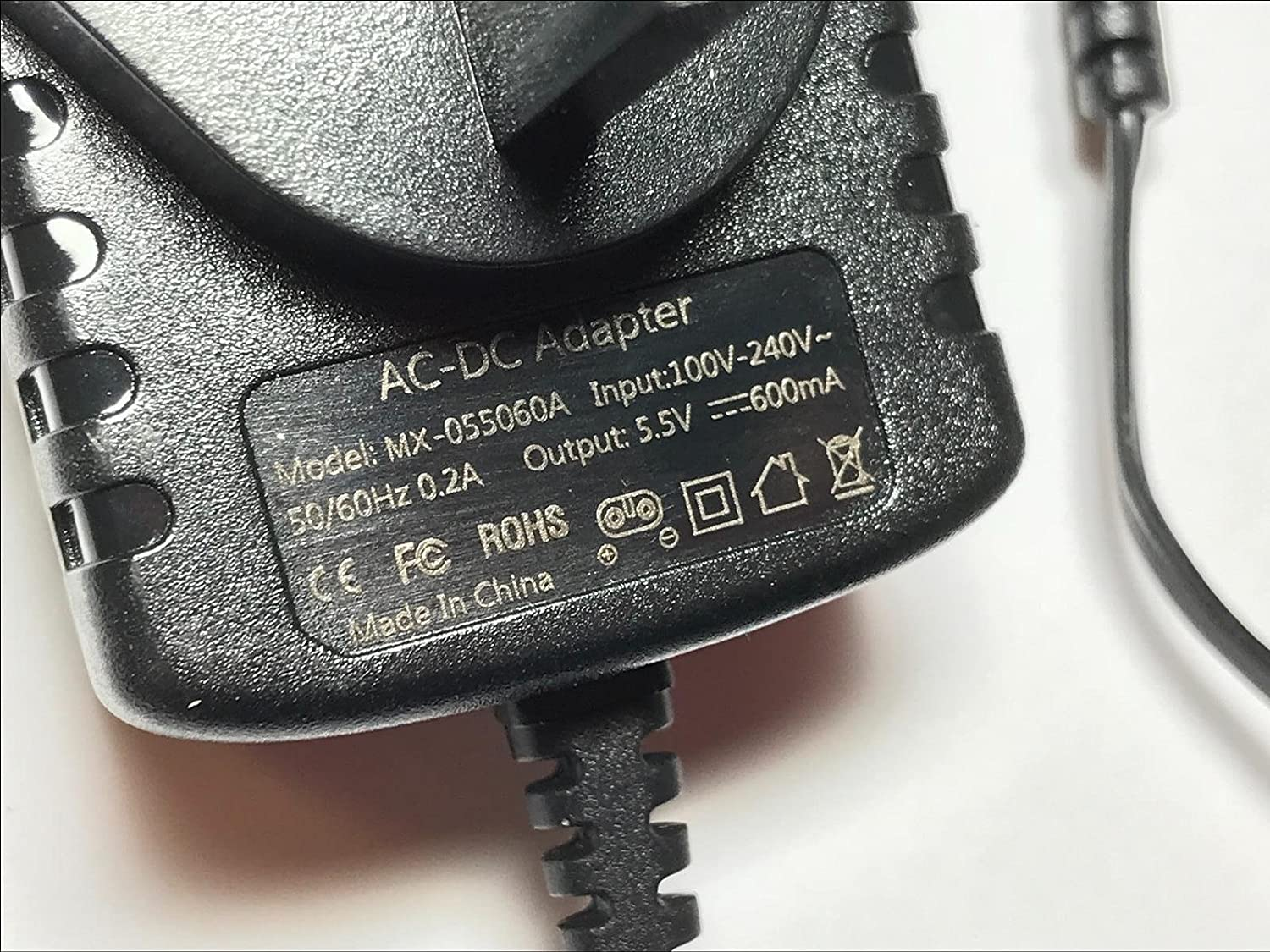 Replacement Karcher 6.654-311.0 5.5V 600mA Window Vac WV Charger Power Supply